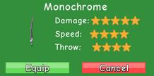 Monochrome stats