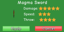 Magma Sword Stats
