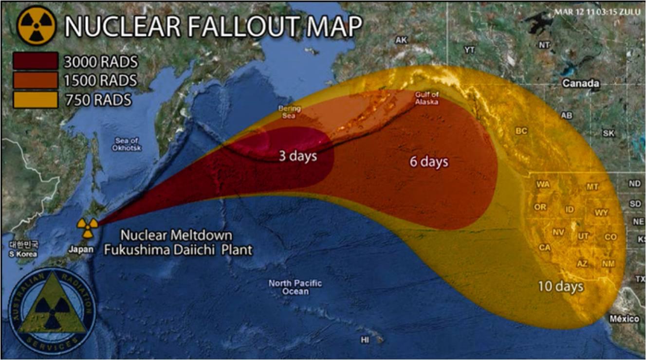 Radioaktive Verseuchung Pazifik
