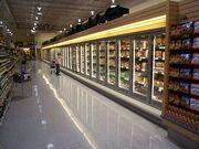 Supermarket froz food isles