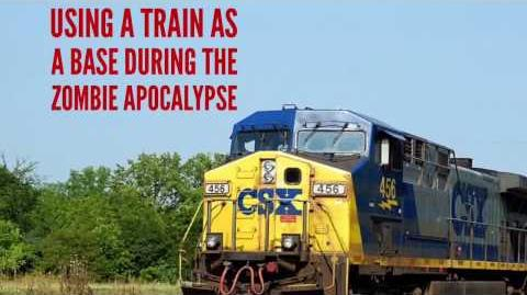 Using a train as a base in the zombie apocalypse