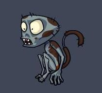 Monkey Zombie PVZO2
