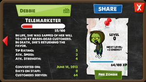 Zombie Telemarketer (F)