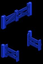 Blue Fence Gate 2