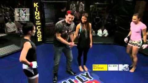 Michelle Waterson vs Female Bully in Bully Beatdown Season 3 HQ 2 Girls 1 Cage HOT