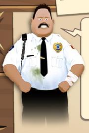 Rent-a-cop rob