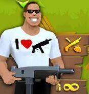 Copia de hombre con escopeta