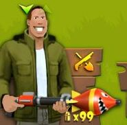 Hombre con lanza cohetes