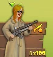 Mujer con Rifle de Asalto