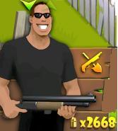 Hombre con escopeta