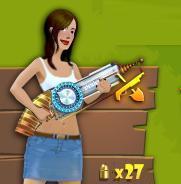Mujer con tesla gun