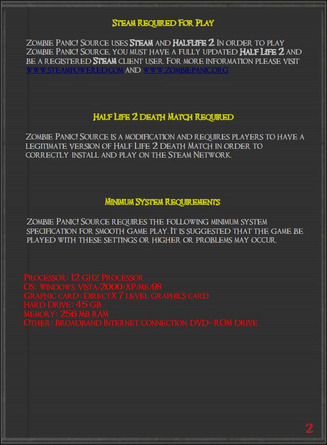The Zombie Panic: Source Manual | Zombie Panic Wiki | FANDOM powered