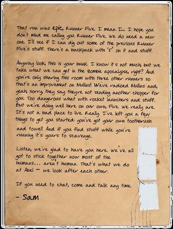 S01E01 Letter