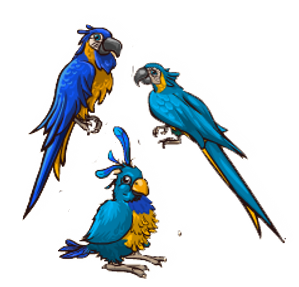 File:Blue-Throated Macaw.png
