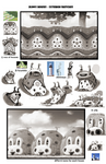 Bunny Houses - Exterior Sketches