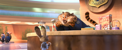 Clawhauser calling Judy cute