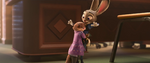 Mrs. Otterton hugs Judy Hopps