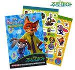 Zootopia Mini Sticker Coloring Set Disney Child Gift Deco Fun Play Diary Present