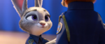 Judy finishing putting badge on Nick