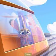 Judy on train Z anniversary