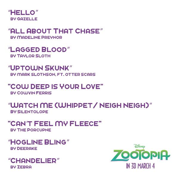 Singles list