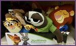 Zootopia flat plushes Lionheart Flash Clawhauser