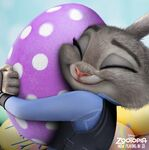 Judy Hugging Egg