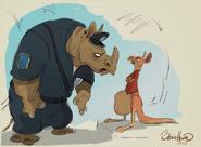 Mc Horn and kangaroo