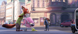 Judy hustling Nick with the threat of felony tax evasion