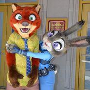 Judy hugs Nick