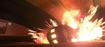 Train car exploding