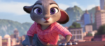 Judy on Top of Train