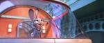Judy on train