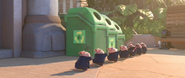 Lemmings Trash Bin