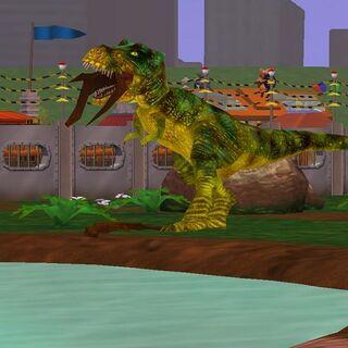 The <i>T. rex</i>, before Extinct Animals' model update.