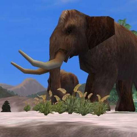 A fan-made Woolly mammoth in Zoo Tycoon 2 by Kangorilaphant (as well Xtremepieman).