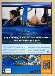 Zoo Tycoon Marine Mania print ad NickMag Nov 2002