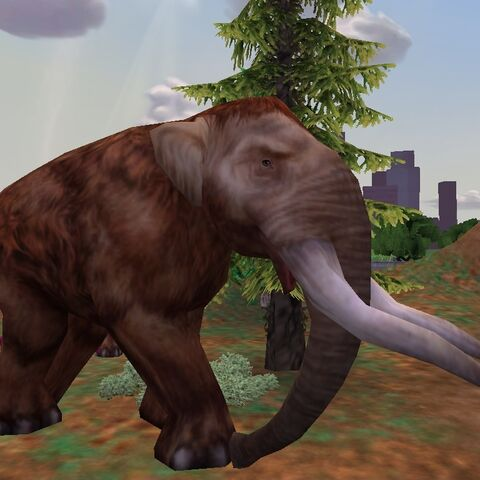 Screenshot of an American Mastodon on lower graphical settings.