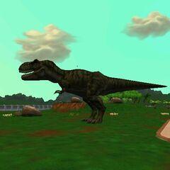 Biohazard's <i>Tyrannosaurus</i> from <i>Zoo Tycoon 2: Operation Genesis</i>.