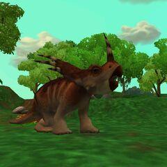 <i>Styracosaurus</i> roaring