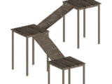 High Wooden Platforms (Lion Designs)