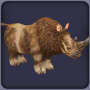 Woolly Rhinoceros (Blue Fang)