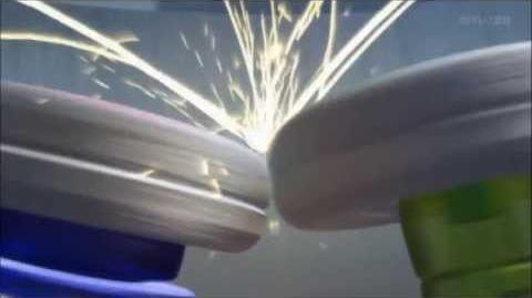 Beyblade Shogun Steel Orochi Leviathan (Kite) v.s Salamander Ifraid (Zero) AMV.